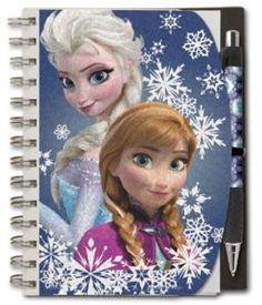 NEW DISNEY PARKS AUTHENTIC FROZEN ANNA ELSA SPIRAL NOTEBOOK PEN SET DISNEY STORE #DisneyParks