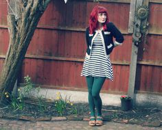 what i wore stripey dress moheda shoes