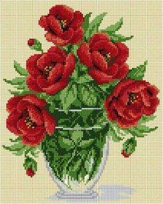 Counted Cross Stitch Patterns, Cross Stitch Kits, Cross Stitch Designs, Cross Stitch Charts, Embroidery Stitches, Embroidery Patterns, Cross Stitching, Cross Stitch Rose, Cross Stitch Flowers