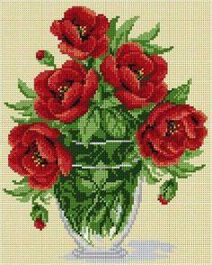 Cross stitch pattern Cross stitch printed by FabricCanvasPatterns Cross Stitch Love, Cross Stitch Flowers, Cross Stitch Designs, Cross Stitch Patterns, Cross Stitching, Cross Stitch Embroidery, Embroidery Patterns, Crochet Cross, Hobbies And Crafts