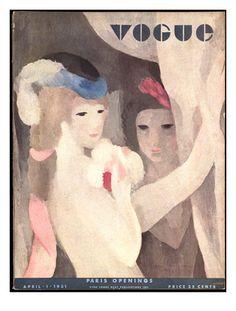 Vogue Cover - Repro M. Laurencin - April 193