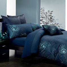 Seasons Collection 5/7-Piece Embroidered Duvet Cover Set In Jade And Silver - Beyond the Rack
