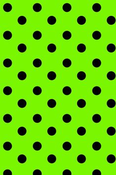 Lime With Black Polka Dots Background