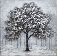 I Speak For All Trees On Wood 40x40 Wood Online, Gray Tree, Black And Grey, Original Art, Trees, Leaves, Wall Art, Flowers, Plants