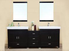 80.7 in Double sink vanity-wood-black