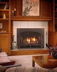 Fireplace insert - they look so real! Imagine sipping hot chocolate and reading a book here!