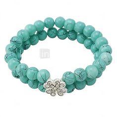 Women'sFashion Exquisite Paint Glass Bracelets(Random Color) - USD $ 2.99