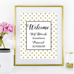 Download and print this free printable Wifi password sign for your home or guest room!