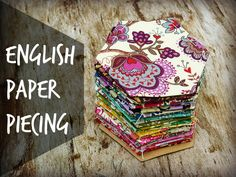 Jak se šije patchwork – tutorial – English paper piecing | Mišin patchwork
