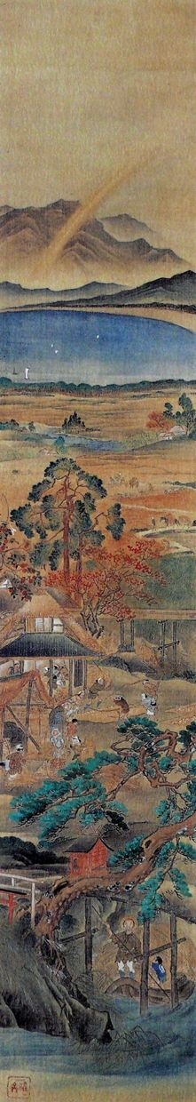 Four Seasons - one of pair, by Kyonabe Kyosai