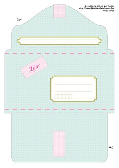enveloppe à imprimer pastel freebies DIY