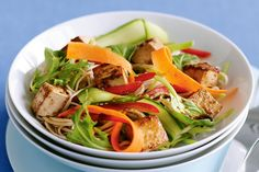 The ultimate kitchen resource with free recipes, plus menus, videos and cooking tips. Tofu Recipes, High Protein Recipes, Vegetarian Recipes, Cooking Recipes, Healthy Recipes, Free Recipes, Cooking Tips, Tofu Salad, Pea Salad
