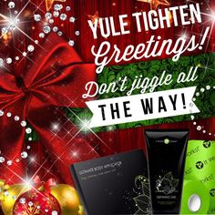 Yule Tighten Greetings Tighten tone and firm with a box of wraps, defining gel and fab wrap! It Works Wraps, My It Works, Great Christmas Gifts, Holiday Gifts, Holiday Parties, It Works Loyal Customer, It Works Distributor, Ultimate Body Applicator, It Works Global