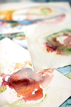 Abstract Watercolors by Alyn Carlson, via Flickr