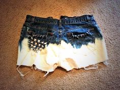 High waisted dip dyed shorts