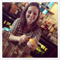 Amie from The Woods in Orlando, Fla., working her magic on a Troy & Sons Old Fashioned!
