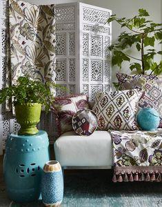 Rainforest Cam 5 Prestigious Textiles, Ottoman, Upholstery, Throw Pillows, Interior Design, Bed, Cover, Furniture, Photoshoot Ideas