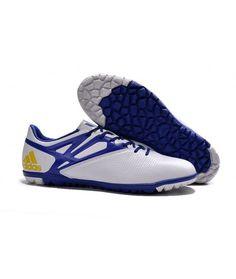 the best attitude 1a65f 347a3 Adidas MESSI 15.3 TF Zapatillas futbol sala botas de fútbol blanco azul