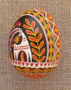 Pysanka Real Ukrainian Easter Egg Hen Shell Deer B | eBay