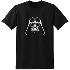Star Wars Inspired Darth Vader Helmet Black Design 1 Gray Grey T-Shirt T-Shirts Tops Women Men Boys featuring polyvore, fashion, clothing, tops, t-shirts, landry tops, mens shirts, black, women's clothing, checkered shirt, checked shirt, gray t shirt, black t shirt and grey tee