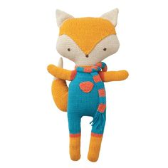 Organic Felix Fox Knitted Toy by Babylonia - Oompa Toys