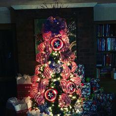 Captain America Christmas Tree 2015
