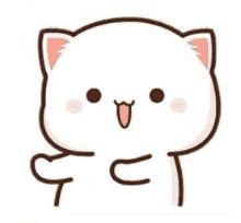 Mochi, Cute Bear Drawings, Chibi Cat, Cat Couple, Cute Love Gif, Cute Love Cartoons, Cute Bears, Kawaii Cute, Animated Gif