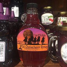 Yummy!! Utah jams, syrups and honey at the Best Little Shop West of the Mississippi! #gifts #Utah #shoplocal #jams  #giftsforeveryone #heritagegiftshop