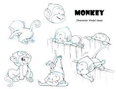 Monkey Character Design 2 by AlexTLin