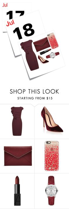 """""""Calendar"""" by sara-beatrice-lazar ❤ liked on Polyvore featuring Post-It, MaxMara, Gianvito Rossi, Rebecca Minkoff, Casetify, NARS Cosmetics and Burberry"""