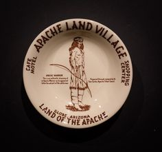 Apache Land Village Café, Motel and Shopping Center, Globe, Arizona. Made by Wallace China in 1954 & 1955. Small Fruit Bowl. Offered by Track 16. http://www.track16.com #restaurantware #restaurantchina