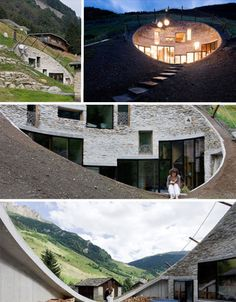 """""""In a hole in a ground lived a hobbit. Not a nasty, dirty, wet hole..."""" modern hobbit house in Switzerland, webecoist.com"""