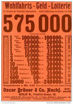 Original-Werbung/Inserat/ Anzeige 1902 - 1/1 SEITE : WOHLFAHRTS-GELD LOTTERIE / BRÄUER & CO. BERLIN - ca. 190 x 280 mm