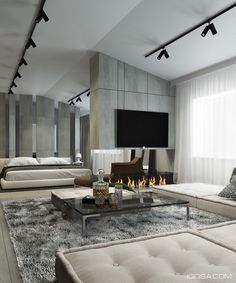 Home Designing — (via A Moscow House Uses Texture to Create...