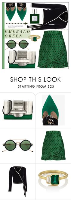 """Emerald City: Pops of Green"" by pat912 on Polyvore featuring Michino, Valentino, Jacques Marie Mage, Karen Millen, Eight & Bob, emeraldgreen and polyvoreeditorial"