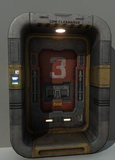 maya sci fi door