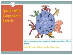 This is an online scavenger hunt that can be used with or after an author study on Roald Dahl or any time students have read his literature. Studen...