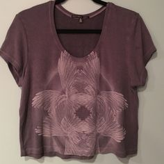 Loose gray crop top This is a loose and gray crop top from pac sun. Never worn but has no tags. Very stretchy and soft PacSun Tops Crop Tops