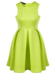 Shop Green Round Neck Sleeveless Ruffle Flare Dress online. Sheinside offers Green Round Neck Sleeveless Ruffle Flare Dress & more to fit your fashionable needs. Free Shipping Worldwide!