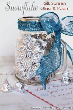 silk screen mug amp snowflake poem perfect neighbor gift