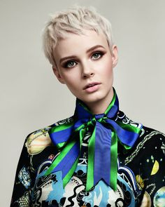 Futurewise 2018 Toni and Guy Cute Hairstyles For Short Hair, Girl Short Hair, Pixie Hairstyles, Short Hair Cuts, Pixie Haircut Styles, Pixie Styles, Short Hair Styles, Tony N Guy, Cool Blonde
