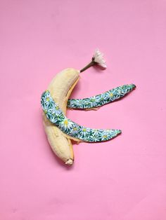 Today we celebrate spring ❤ love And Miss Daisy @bananagraffiti final bye bye! Only 1 day! Be ironic. Smile. That's it. #bananagraffiti #spring #martagrossi #pink #love #banana #bananart #art #video #happy #end #daisy #flower #green #white #handmade #fly #food #fun #end #temporary #hongkong #me