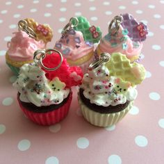 A personal favorite from my Etsy shop https://www.etsy.com/listing/233614346/handmade-polymer-clay-kawaii-cupcake