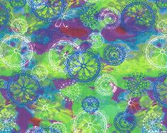 Windy Daze - Airy Flowers - Lime Green