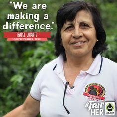 Meet Isabel Uriarte, a true ‪#‎FairHer‬ hero! She is one of the founders of the revolutionary Café Femenino Program, a coffee made ONLY by women! Learn more about how #FairTrade empowers #women here: BeFair.org #womensempowerment #mom #mothersday