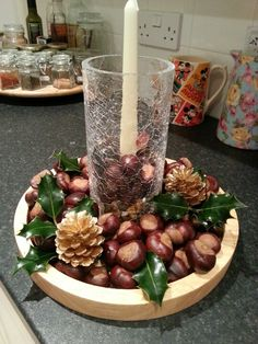 This years homemade table centrepiece.