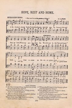 Antique Music Page Printable - KnickofTime.net