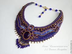 Cosmic night - beaded necklace. Beadwork jewelry by Ulyana Moldovyan.