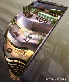 """Многоквартирный дом """"Элиза"""", проект бюро Тони Оуэн Партнерс (Tony Owen Partners), Сидней, Австралия."""