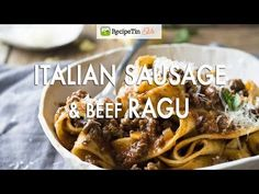 Take your basic meat sauce to the next level with the addition of Italian sausages to create an incredible Italian Sausage & Beef Ragu pasta! Its easy rich and indulgent and youd pay serious. Sausage Pasta, Pasta Recipes, Beef Recipes, Cooking Recipes, Recipe Pasta, Ragu Pasta Sauce, Bolognese Pasta, Cheap Bbq